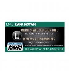 JUST FOR MEN - ZA BRKOVE I BRADU boja: tamno smeđa crna M45